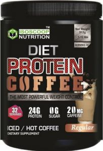 Iso scoop nutrition DIET PROTEIN COFFEE Plant-Based Protein  (512 g, coffee)