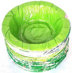 Vaishvi 3 Layer Double Side Coated Plastic Disposable Containers | Paper Katori (Set of 120 Pcs)