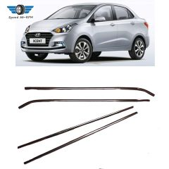 Speed 99 ~ Rpm Stainless Steel chrome Lower Window Set Compatible With Hyundai Xcent Complete Set With 4 Pcs
