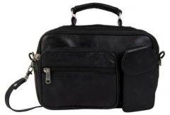 ASPENLEATHER designer Genuine Leather Doctor Bag/Travel Bag (Black)