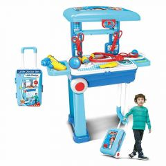 Kids Play 2 In 1 Doctor Medical Box Suitcase Trolley (Pack Of 1 Medical Suitcase)