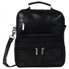 ASPENLEATHER Genuine Leather Doctor Bag/Travel Bag-Black
