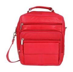ASPENLEATHER Genuine Leather Doctor Bag/Travel Bag (Red)