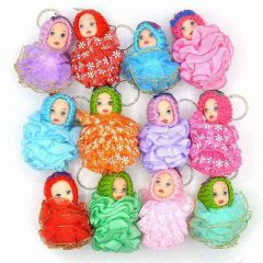 Princess Baby Doll Keychain With Doll, Random Color Will Be Ship (Pack Of 12)