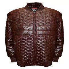 Aspenleather Franchise Club Double Diamond Bomber Jacket (Brown)
