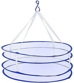 Homeoculture Drying Rack Foldable Hanging Laundry Basket For Clothes