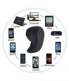 Bluetooth Single Headset Earpiece Hidden For Talk & Music (Pack of 1)