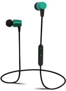 Stylish and Ultra-Thin SY H 15 Magnet Bass Bluetooth Earphone For all Smart Phones (Black & Green)