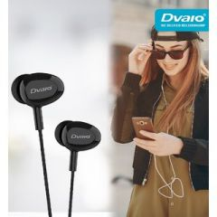 Deep Bass Dvaio R3 Wired In the Ear Earphone For Android & iOS Mobile (Black)