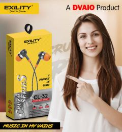 Deep Bass Dvaio Cl-32 Wired In the Ear Earphone For Android & iOS Mobile (White)