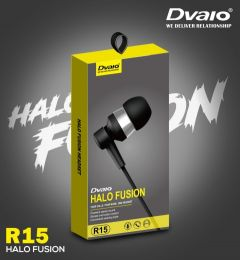 Deep Bass Dvaio R-15 Wired In the Ear Earphone For Android & iOS Mobile (Black)