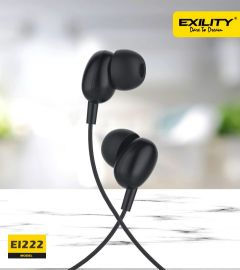 Deep Bass Dvaio EI-222 Wired In the Ear Earphone For Android & iOS Mobile (Black)