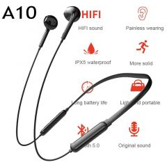 Comforting A10 Bluetooth Neckband With Long Battery For Music And Calls For All Smartphone