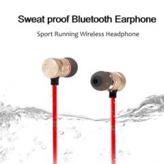 Universal Headphones Magnet Sports Wireless Neckband With Ultimate Round Pouch Packaging