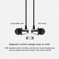 Advance Portable Wireless Bluetooth Earphone With Black Round Pouch (Pack of 1)