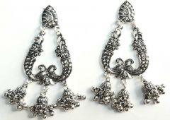 Beautiful and Premium Jewellery White Metal Jhumki Earring For Womens