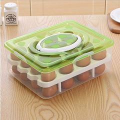 Egg Storage Kitchen Food And Vegetable Container With Lid Container (Green)