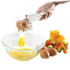 Plastic Handheld Egg Cracker with Separator Easy to use & Time Saving