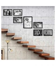 Elegant Arts & Frames Wood Brown Collage Photo Frame - Pack of 7