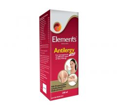 Elements Wellness Antilergy Liquid For Management of Different Type of Skin Allergy  (200 ml) (Pack of 1)