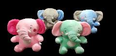 Shree Sai Durga Dhoom Toys | Soft Cute Elephant Toy for Kids Boys/Girls | Fabric Huggable Elephant Teddy toy for kids (Multi-Color) (Pack of 1)