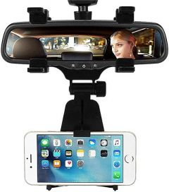 Car Mobile Holder Stand Double Clamp for Car Windshield (Pack of 1)   (Black)