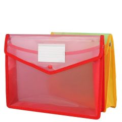 SPS Parth Envelope Folder, Transparent Poly-Plastic A4 Documents File Storage Bag With Snap Button, Document Folder For Certificates (Pack of 2)