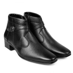 BXXY Men's Height Increasing Strap and Buckle Boots