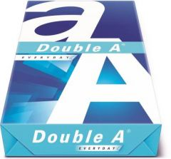 Double A Office/Schools Essentials Branded A4 Size 75 GSM Paper Ream (Set of 5 Ream) | (5*500 Paper)
