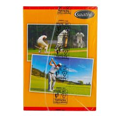 Saathi Exercise Book - 29.7 x 21 cm, 140 Pages (Single Line, Pack of 6)
