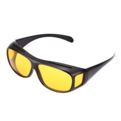 ZMO Night HD Vision Driving Anti Glare Black Frame with Yellow Lens Eyeglasses