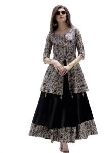 Bagrecha Creations Designer Fit And Flare Knee Length Gown | Anarkali | Party Wear Dress For Girls & Women's
