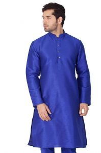 Men's Fashionable and Stylish Cotton Silk Kurta For Party & Weddings Wear (Pack of 1)