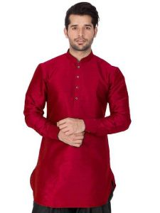 Men's Fashionable and Stylish Solid Cotton Silk Kurta For Party & Weddings Wear