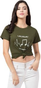 Women's Printed Round Neck T-Shirt