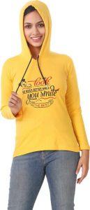 Women's Full Sleeve Cotton Sweatshirt - Yellow