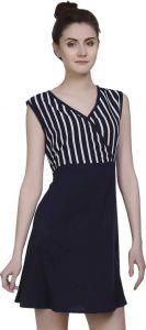 FashionNYou Women's A-line Black Dress