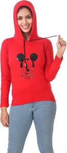 Women's Full Sleeve Solid Sweatshirt (Pack of 1) Red