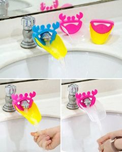 SYGA 2 Piece Faucet Sink Handle Extender for Children-Baby Bathroom Accessory, Excellent Hand Washing Guide Faucet