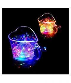 Heart Shape Activated Blinking Led Glass Cup