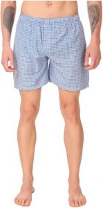 Fearless Fashion Checkered And Cotton Lycra Blend For Men's (Blue) (Pack of 1)