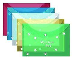 Generic A4 Full-Size Waterproof Document File Folder (Pack of 10 Pcs)
