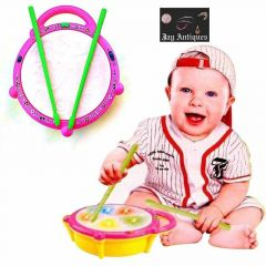 Battery Operated Musical Flash Drum For Kids A 3 Game Modes, 9 Duet Songs, 9 Different Drums Sound (Pack Of 1)