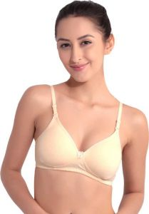 Floret Lightly-Padded, Medium Coverage T-Shirt Bra For Women & Girls (Beige)