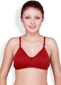 Floret Solid Women Sports Heavily Padded Bra For Women & Girls (Maroon)