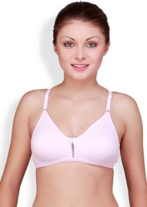 Floret Solid Women Medium Coverage Non Padded T-Shirt Bra For Sports & Casual (Pink)