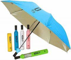 Folding Umbrella With Wine Bottle Cover Waterproof Ultra Protective Uv Mini Portable Umbrellas