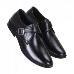 Ramoz Comfortable and Durable PU Genuine Leather Formal Shoes For Men's (Black)