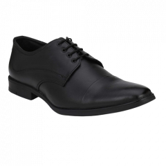 Comfortable and Durable PU Genuine Leather Formal Shoes For Men(Black)