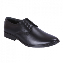 Ramoz Comfortable and Durable Genuine Leather Formal Shoes For Men (Black)